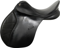 Second Hand Bates Caprilli Jump Saddle Black 16.5 inch Narrow Medium