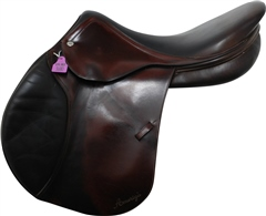 Unbranded Second Hand Amerigo Jump Saddle Brown 17.5 inch Medium