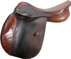 Unbranded Second Hand Henry de Rivel Jump Saddle Brown 17.5 inch Medium width