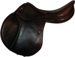 Unbranded Second Hand Pariani Jump Saddle Brown 18 inch Medium