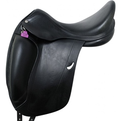 Unbranded Second Hand Equipe Emporio Dressage Saddle Black 17 inch Medium Wide