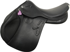 Unbranded Second Hand Prestige X-Michel Robert D Jump Saddle Black 18 inch 33cm