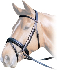 Albion KB Competition Snaffle Bridle with Cavesson Noseband