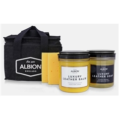 Albion Cleaning Kit Conditioner Soap and Sponge in Hessian Bag