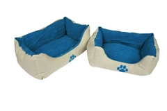 Companion reversible Dog Bed with Paw Print