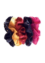 Equetech Metallic Pin Spot Scrunchie