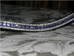 Equiture Tanzanite and Clear Curve Browband