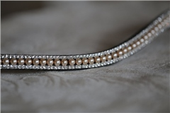 Equiture Pearl and Clear Curve Browband
