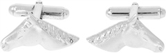 Falabella Carved Horseshoe Head Cufflinks