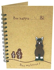 Grays Gifts Wooden Bee My Horse Notebook L/S