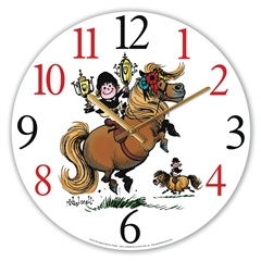 Grays Gifts Thellwell Glass Clock Pony With Trophies
