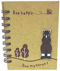 Grays Gifts Wooden Bee My Horse Notebook M/S