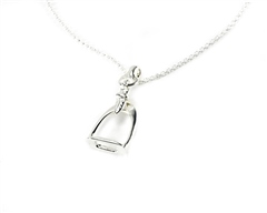 Hiho Sterling Silver Stirrup Pendant
