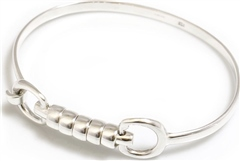 Hiho Exclusive Silver Cherry Roller Snaffle Bangle.