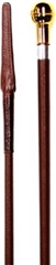 IV Horse Leather Covered Show Cane with Ball Cap and Leather Keeper