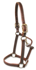Walsh British Halter with Throat Snap and White Stitching