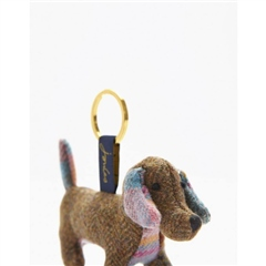 Joules Tweedle Novelty Tweed Keyring