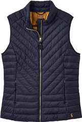 Joules Women's Brindley Print Chevron Quilted Gilet
