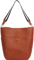 Joules Wayfield Bright Faux Leather Bucket Bag