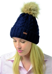 Hy Horse Wear HyFASHION Melrose Cable Knit Bobble Hat