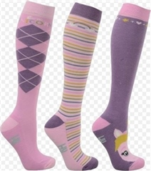 Hy Horse Wear Little Unicorn Socks by Little Rider (Pack of 3)