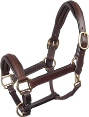 Old Mill Saddlery OMS Raised Heavy Padded Leather Headcollar
