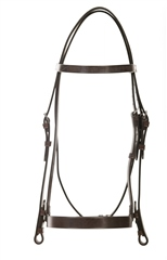 Old Mill Saddlery Old Mill Plain Cavesson Bridle 1 and 1/2 inch Noseband