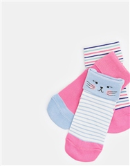 Joules Girls Shorty Socks - 3 Pack