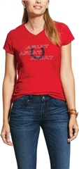 Ariat Women's Puff Print Logo Short Sleeve T-Shirt