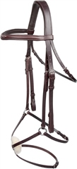 Old Mill Saddlery OMS Mexican Bridle with Rubber Grip Reins