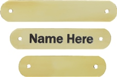Old Mill Saddlery Personalised Headcollar Name Plate