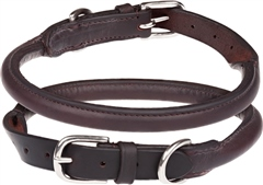 Old Mill Saddlery OMS Rolled Dog Collar