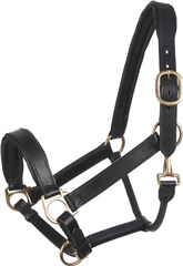 Old Mill Saddlery Padded Leather Headcollar