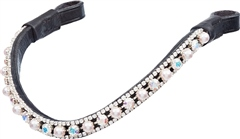 Old Mill Saddlery OMS Diamante Curved Browband