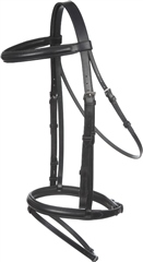 Old Mill Saddlery Flash Bridle with Rubber Reins