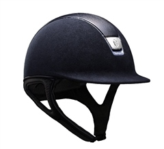 Samshield Premium Swarovski Crystal Riding Hat with Blue Trim