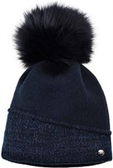 Pikeur Mutze Contrast Hat with Fur Pom