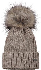 Pikeur Knitted Hat with Contrasting Fur Bobble