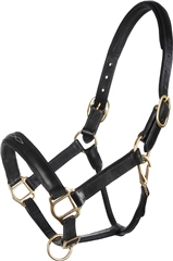 Old Mill Saddlery Fancy Stitch Padded Leather Headcollar