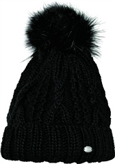 Pikeur Mutze Knitted Bobble Hat with Fur Pom