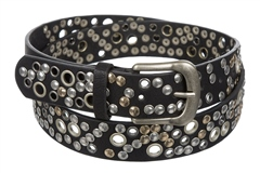 Platinum Ladies Leather Belt With Punched Holes