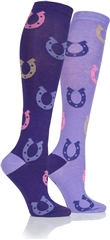 Platinum Epsom Junior Horse Shoe Socks