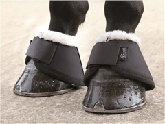 Shires Fur Topped Over Reach Boots