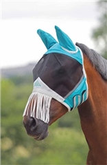 Shires Fine Mesh Shires Fly Mask with Nose Fringe