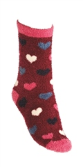 Riding Sock Co. Girls 2pk Eyelash Yarn Crew Socks