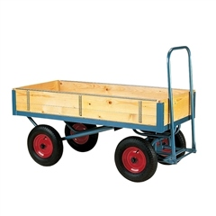 Stubbs England Stubbs Flat Platform Trolley - High Ended with Removable Sides