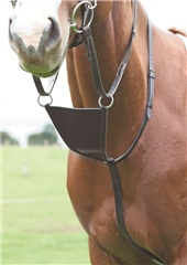 Shires Blenheim Leather Bib Martingale