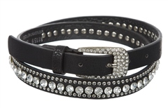 Unbranded Narrow Belt With Single Row Diamante