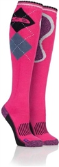 Unbranded Ladies Patterdale Cotton Long Leg Equine Socks