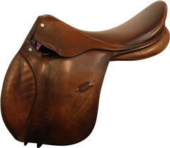Second Hand English Leather GP Saddle 18.5 Medium Wide
